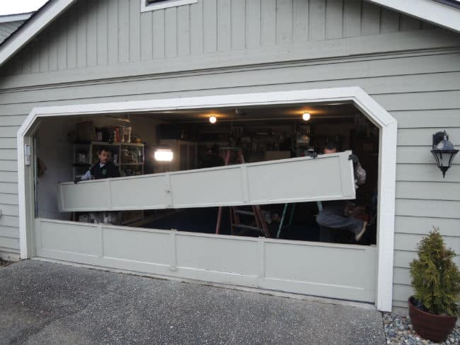 Garage Door Bent Panel Repair In Sterling Heights MI - By Elite Elite Garage Door
