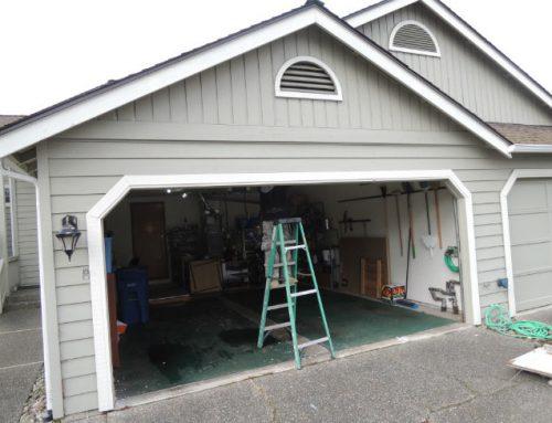 Garage Door Bent Panel Repair In Sterling Heights MI